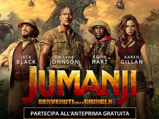 """Anteprima gratuita di """"Jumanji 2 - Benvenuti nella Giungla"""" al The Space"""
