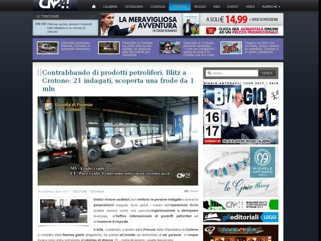 Contrabbando di prodotti petroliferi. Blitz a Crotone: 21 indagati, scoperta una frode da 1 mln