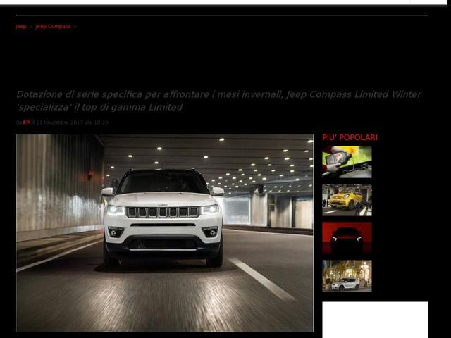Nuova Jeep Compass Limited Winter 2017, prezzo e motori: edizione speciale pronta all'inverno