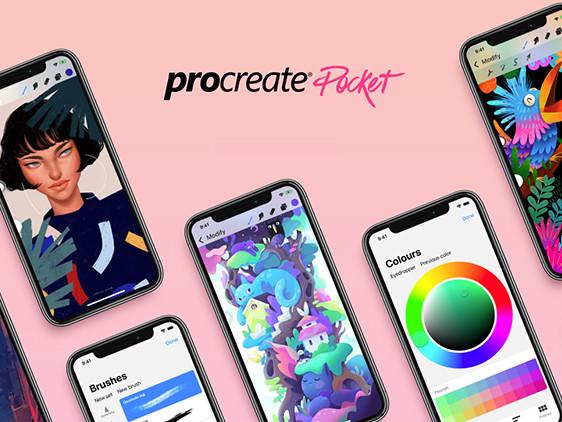 Procreate Pocket 2: interfaccia rinnovata, supporto per iPhone X e nuove funzioni nell'app dedicata al disegno