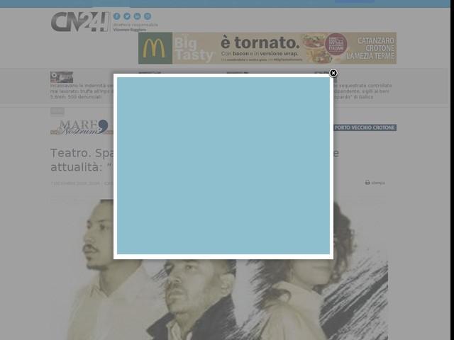 """Teatro. Spazio a De Filippo con un'opera di grande attualità: """"Il Sindaco del rione sanità"""""""