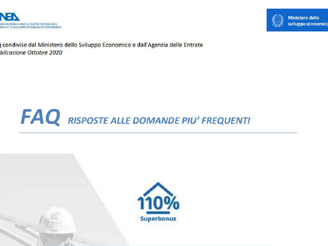 Superbonus 110% e altri bonus casa: come richiedere assistenza all'ENEA