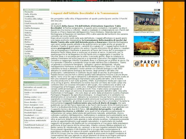 Ente Parchi e Biodiversità - Emilia Occidentale - I ragazzi dell'istituto Bocchialini e la Transumanza