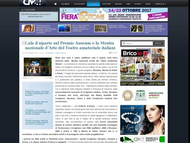 Cala il sipario sul Premio Ausonia e la Mostra nazionale d'Arte del Teatro amatoriale italiani
