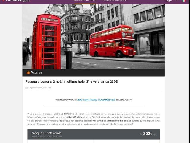 Pasqua a Londra: 3 notti in ottimo hotel 3* e volo a/r da 202€!