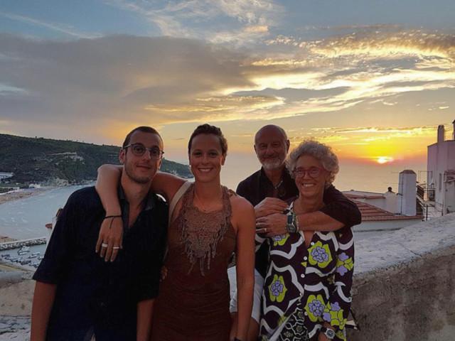 Federica Pellegrini, vacanze in famiglia