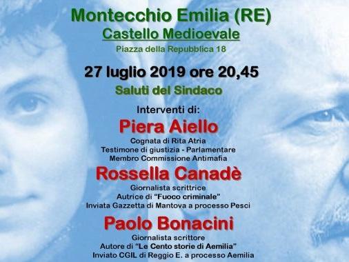 A Montecchio Emilia una serata tra mafia e legalità sulle orme di Paolo Borsellino e Rita Atria