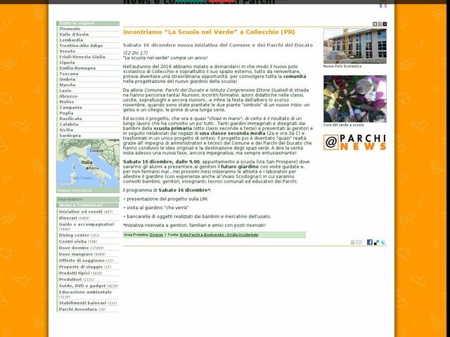 """Ente Parchi e Biodiversità - Emilia Occidentale - Incontriamo """"La Scuola nel Verde"""" a Collecchio (PR)"""
