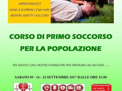 Ventimiglia: a settembre corsi di primo soccorso nella sede della Croce Verde Intemelia