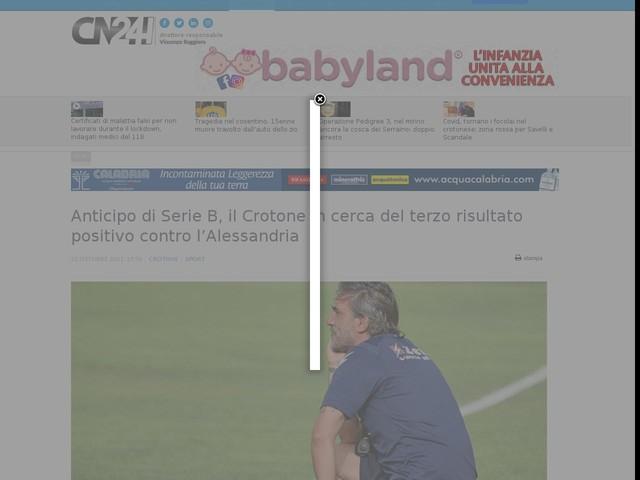 Anticipo di Serie B, il Crotone in cerca del terzo risultato positivo contro l'Alessandria