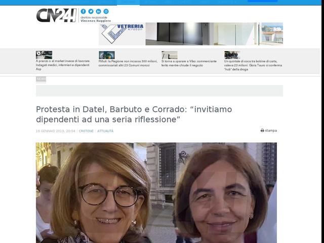 """Protesta in Datel, Barbuto e Corrado: """"invitiamo dipendenti ad una seria riflessione"""""""