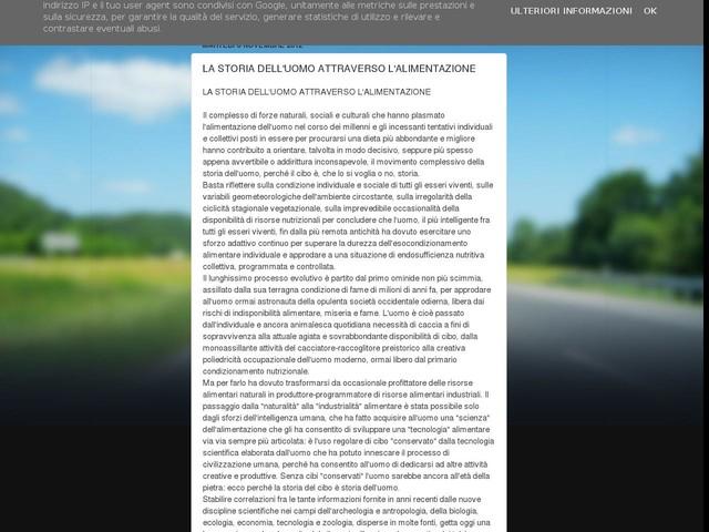 LA STORIA DELL'UOMO ATTRAVERSO L'ALIMENTAZIONE