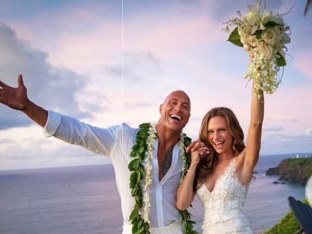 Matrimonio da sogno per Dwayne Johnson e Lauren Hashian, è l'attore a mostrare le bellissime foto