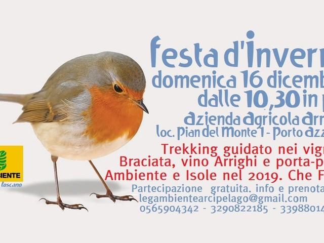 Festa d'Inverno di Legambiente Arcipelago Toscano il 16 dicembre a Porto Azzurro