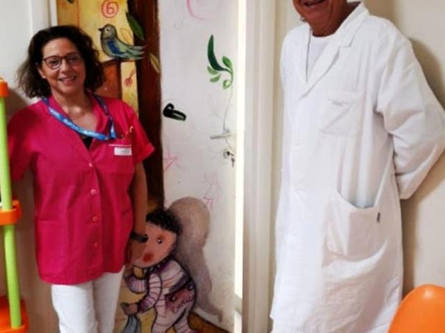 Infermiere in fucsia e lenzuola colorate, un'azienda di Udine dona il progetto a favore dei bambini