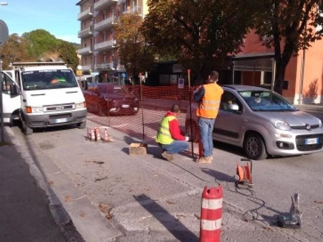 San Severino, doppio intervento di sistemazione dei marciapiedi in viale Mazzini: 240mila euro di lavori