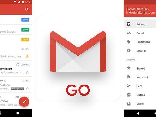 Gmail GO su Android: caratteristiche e download della nuova app