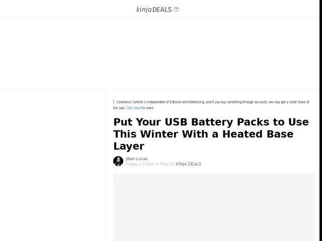 Put Your USB Battery Packs to Use This Winter With a Heated Base Layer