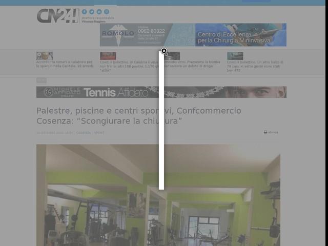 """Palestre, piscine e centri sportivi, Confcommercio Cosenza: """"Scongiurare la chiusura"""""""
