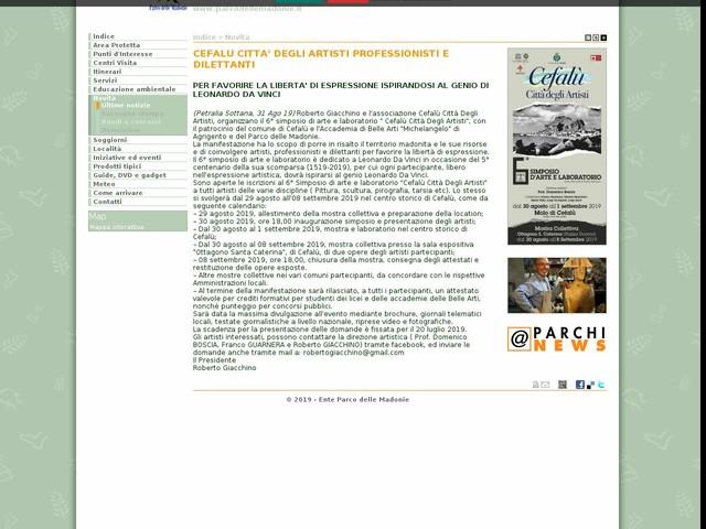 PR Madonie - CEFALU CITTA' DEGLI ARTISTI PROFESSIONISTI E DILETTANTI