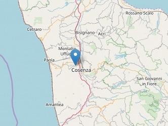Scossa di terremoto in provincia di Cosenza: epicentro a Rende, magnitudo 4.4