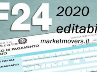 F24 semplificato 2020 compilabile salvabile, pdf gratis