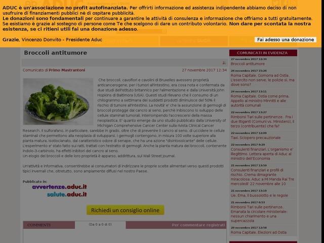 Broccoli antitumore