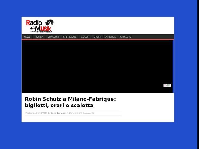 Robin Schulz a Milano-Fabrique: biglietti, orari e scaletta