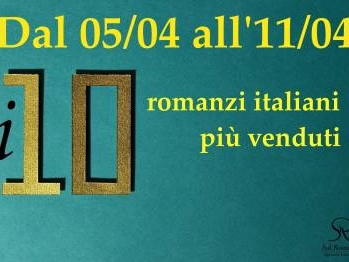I 10 libri di narrativa italiana più venduti della settimana
