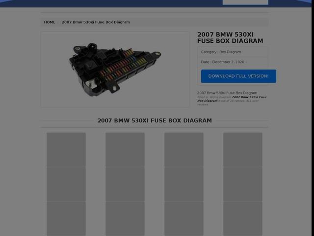 Bmw 530xi Fuse Box Diagram