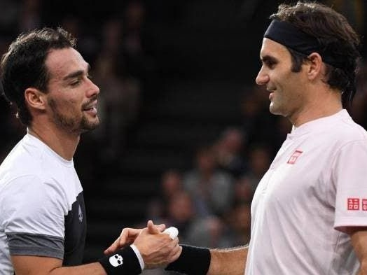 """Fognini: """"Mi piacerebbe rivedere Federer, mi dispiace dirlo ma è lui il tennis"""""""