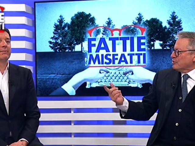 """Renzi a Tgcom24: """"Il problema della maggioranza non sono io, Di Maio si faccia un selfie"""""""