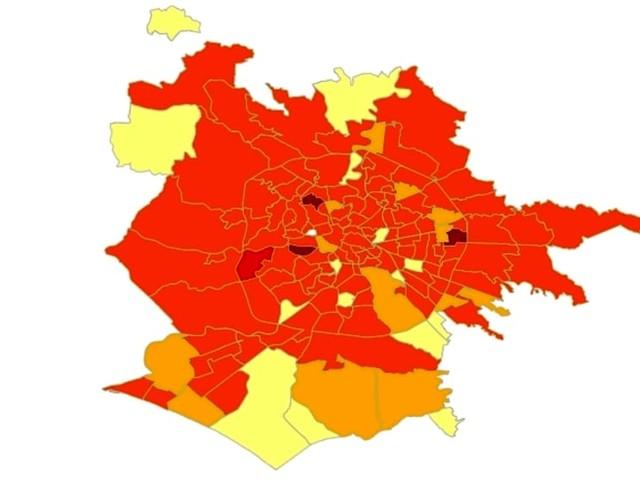 Roma, la mappa del contagio di agosto: i quartieri con più aumenti di casi in estate