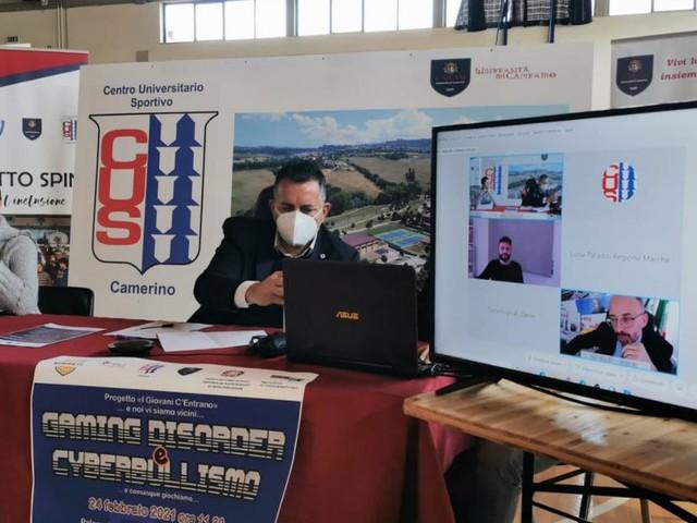 """Cus Camerino, e-sports e cyberbullismo al centro del primo incontro de """"I giovani c'entrano"""""""