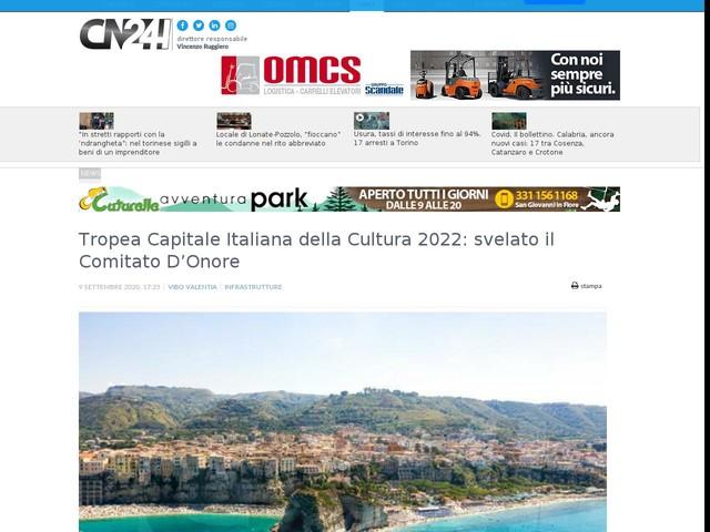 Tropea Capitale Italiana della Cultura 2022: svelato il Comitato D'Onore