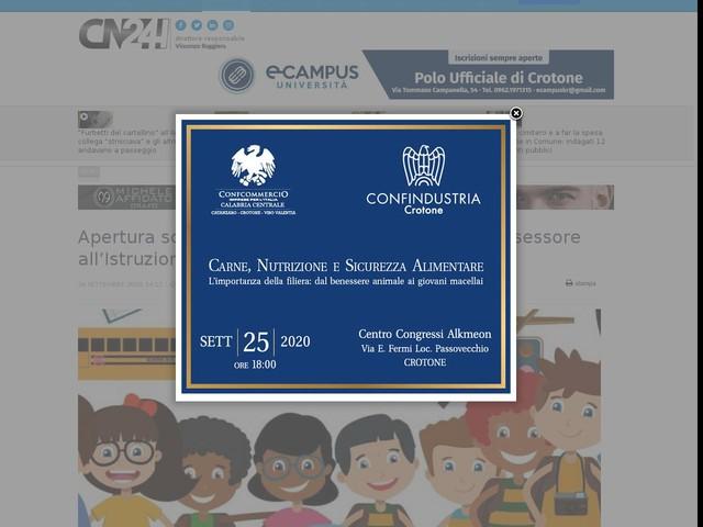 Apertura scuole, messaggio del Sindaco e dell'Assessore all'Istruzione di Morano Calabro