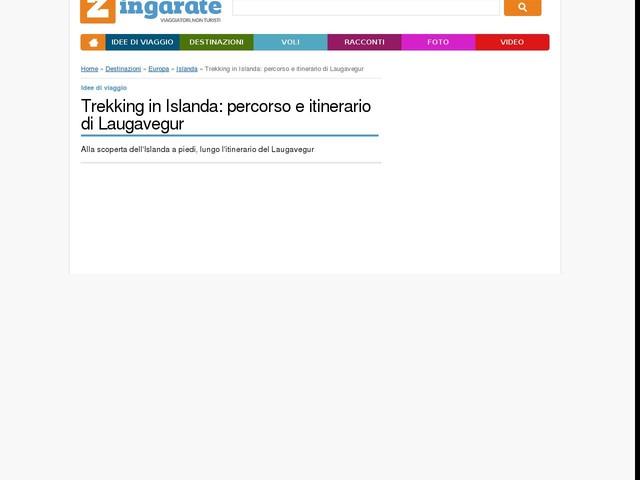 Trekking in Islanda: percorso e itinerario di Laugavegur