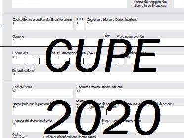 Modello CUPE editabile 2020 ✍