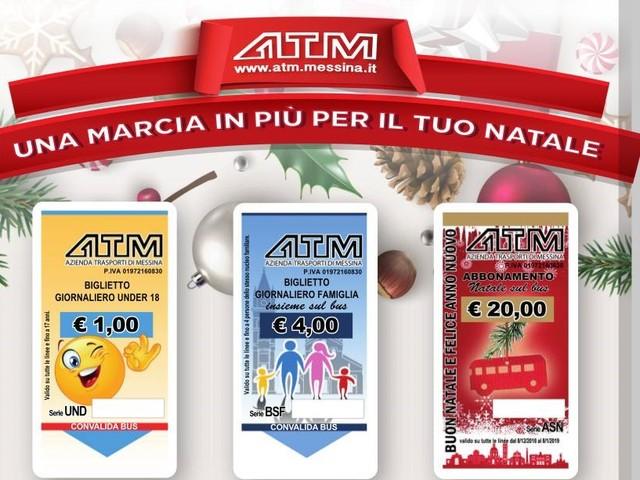 Natale a Messina: tariffe agevolate per chi sceglie di muoversi a bordo dei mezzi Atm