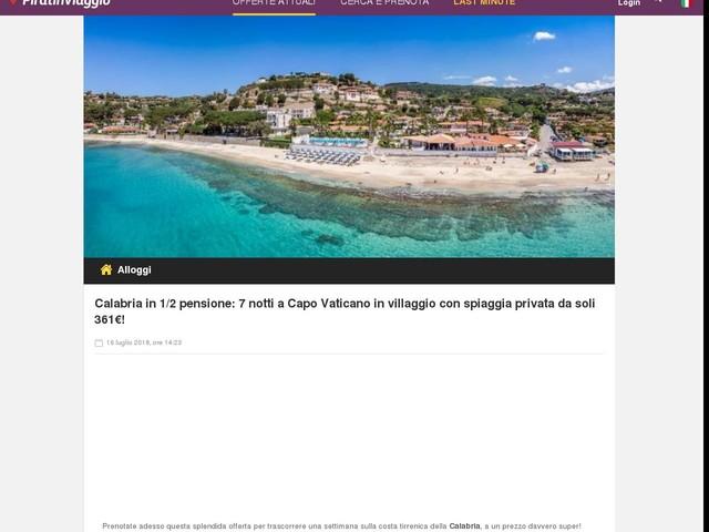 Calabria in 1/2 pensione: 7 notti a Capo Vaticano in villaggio con spiaggia privata da soli 361€!