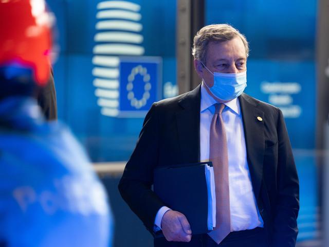 """Consiglio UE, Draghi: """"Dibattito complesso. Al centro nodo energia e migrazione"""""""