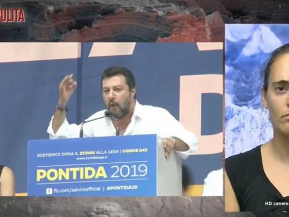 Carola Rackete non ha mai detto la parola 'Salvini' a Piazzapulita