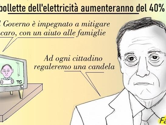 """Aumento costi bolletta della luce: la """"soluzione"""" del premier Draghi"""