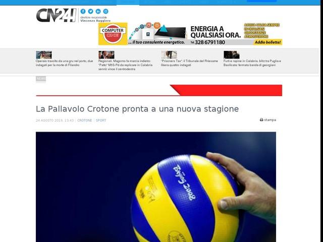 La Pallavolo Crotone pronta a una nuova stagione
