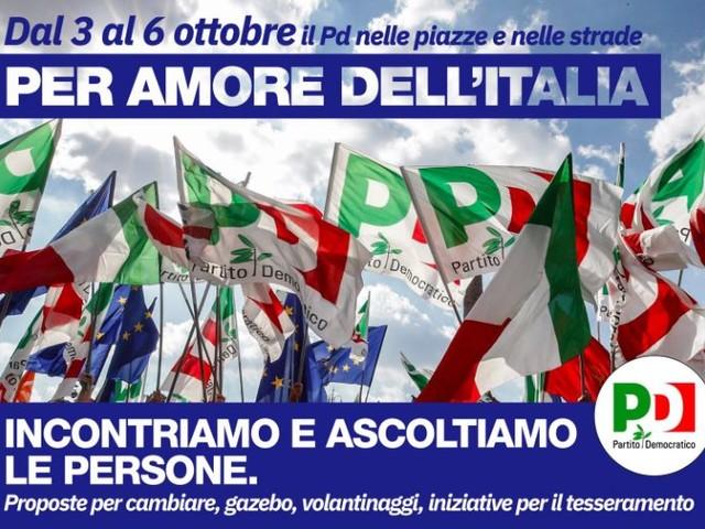 """Ora il Pd scende in piazza """"per amore dell'Italia"""""""