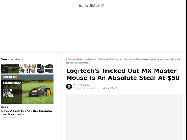 Logitech's Tricked Out MX Master Mouse Is An Absolute Steal At $50
