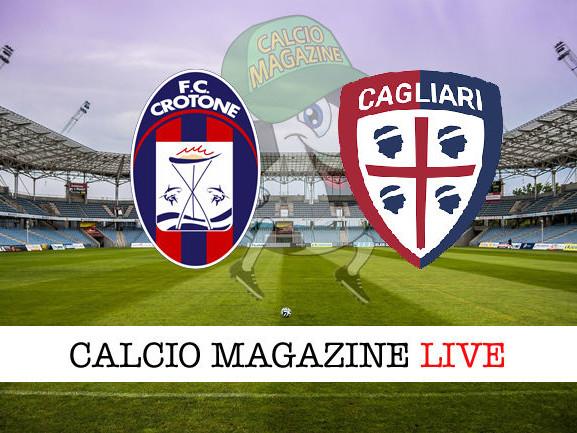Crotone – Cagliari: cronaca diretta live, risultato in tempo reale