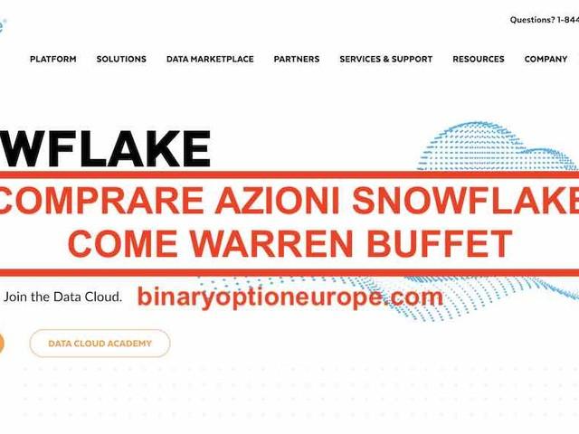 Dove e come comprare azioni Snowflake[novità IPO 2021] Previsioni
