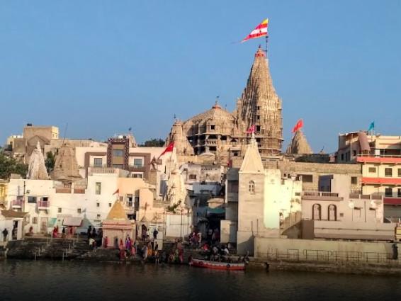 Veduta di Dwarka, stato del Gujarat – India
