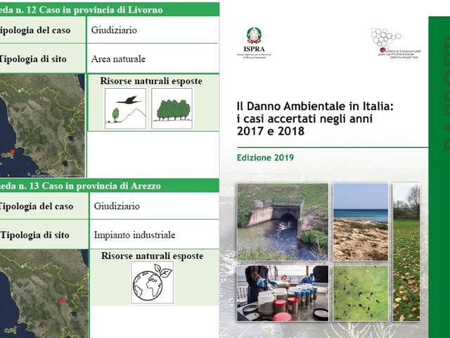 Due casi toscani nel primo rapporto Ispra sul danno ambientale (2017-2018)